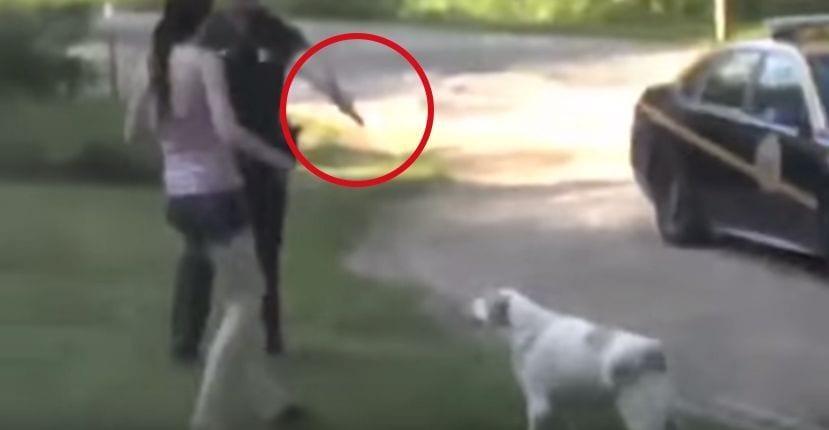 policia perro arma
