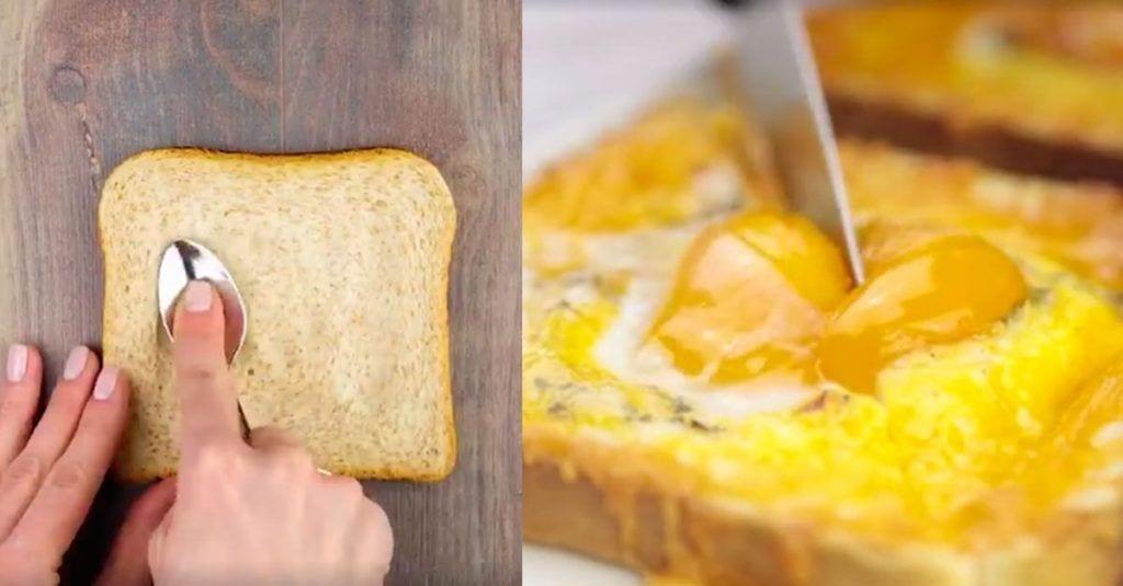 tostadas deliciosas huevo queso
