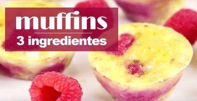 muffins huevo platano