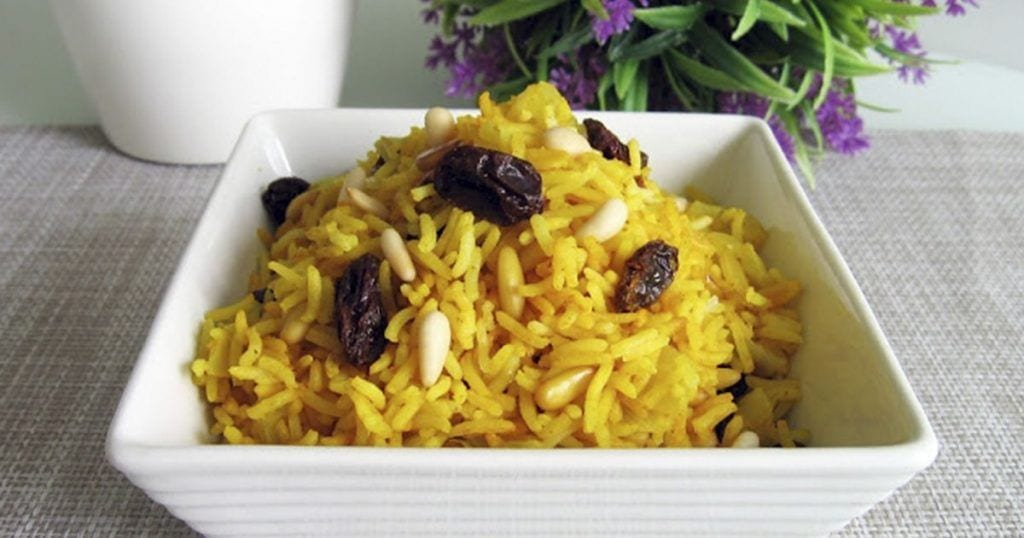 receta arroz hindu