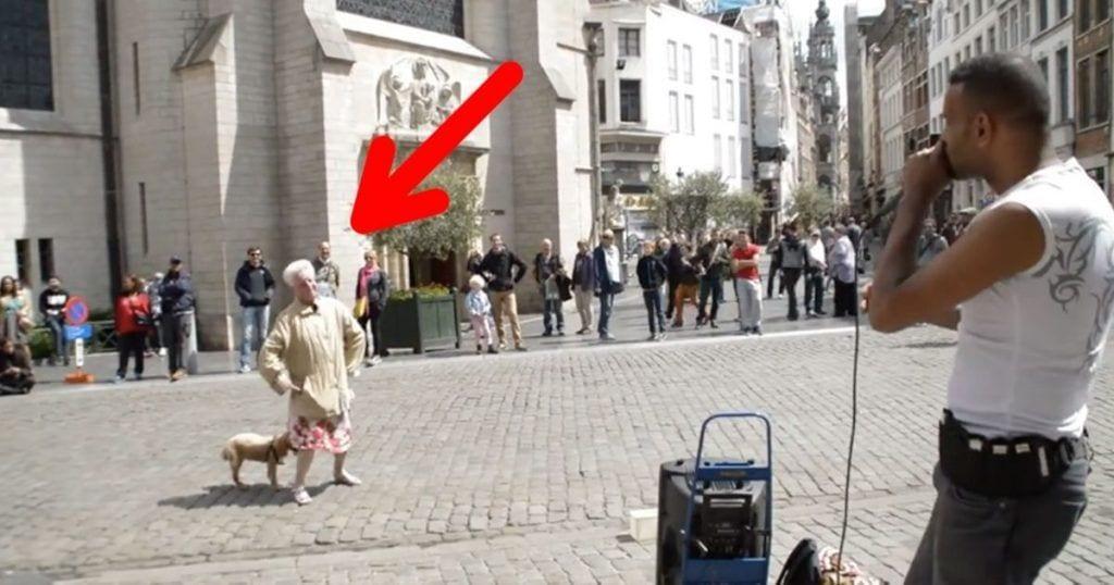 Una bailarina viejita que sorprende