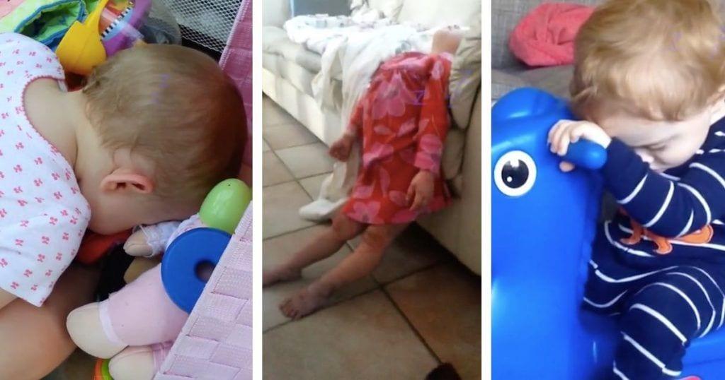 8 bebés que duermen dónde y cómo sea