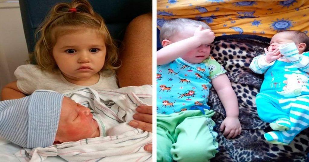 Para estos niños no ha sido una buena noticia tener un hermanito