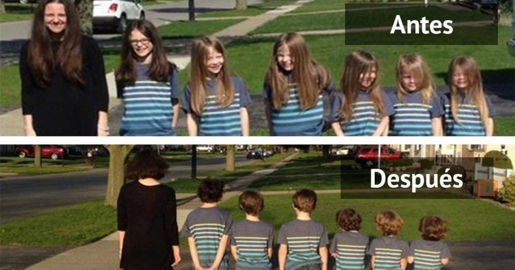 Te emocionarás cuando conozcas la razón por la que esta familia se dejó crecer el pelo para después cortárselo