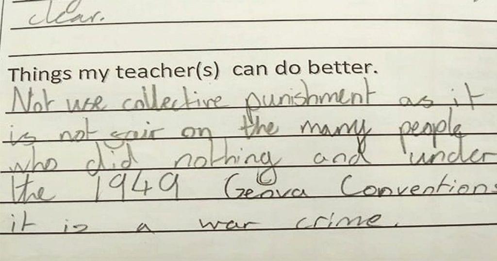 La llamativa respuesta de esta niña cuando se le pregunta que cosas puede mejorar su profesor