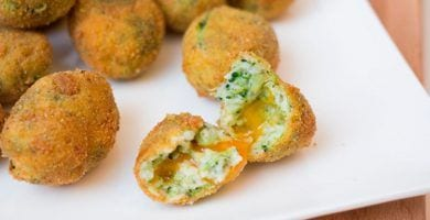 croquetas brocoli queso