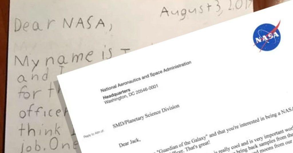 Un niño aplica a una oferta de empleo de la NASA y recibe esta genial respuesta