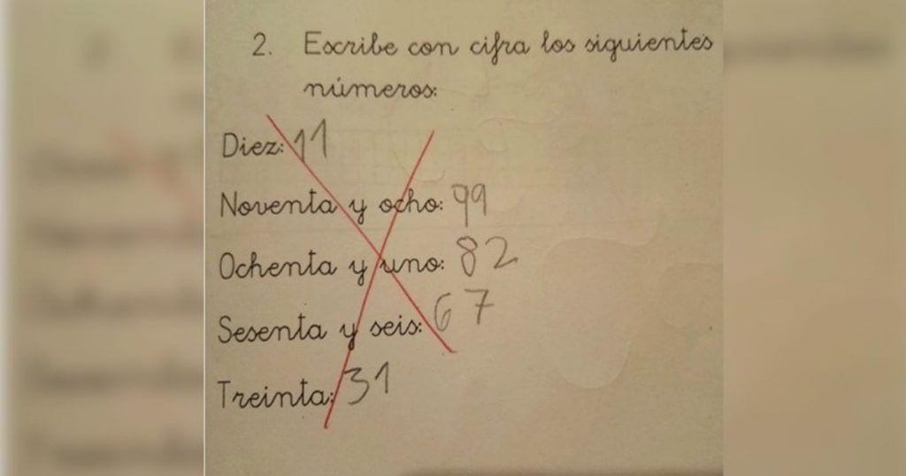 La ingeniosa respuesta de este niño a un ejercicio de matemáticas que se ha vuelto viral