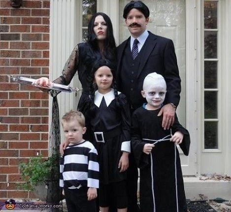 disfraz familia adams