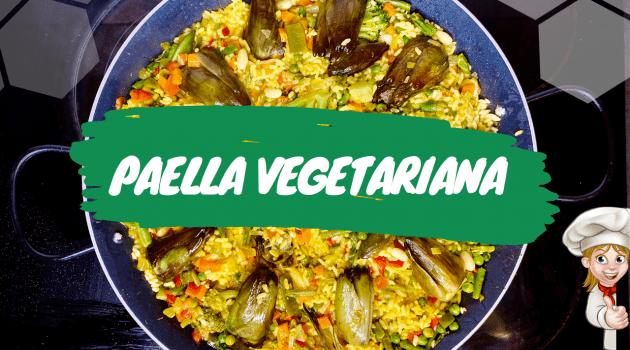 paella vegetariana miniatura